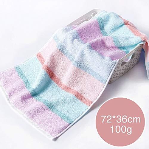 (AI LI WEI Solid Cotton Soft Big Thick Cotton Home Absorbent Wash Face 4 (Color : 70 34cm(C)) Bathroom Essential Color : 7236cm(a))