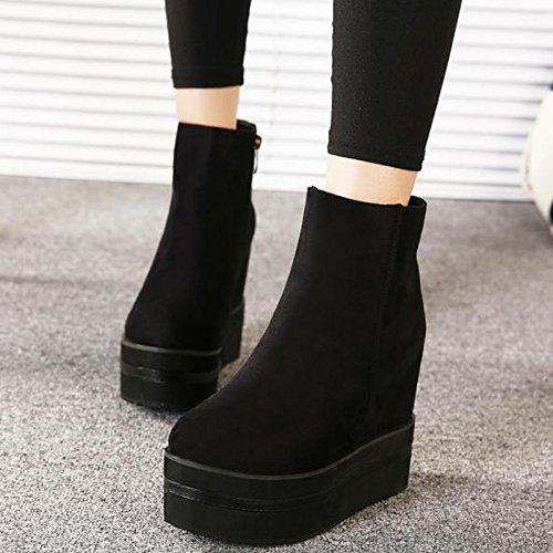 zapatos negro botas zapatos zapatos y con GTVERNH negro caliente de las invierno gruesa alta 34 Martin34 Nuestra aUnw0p