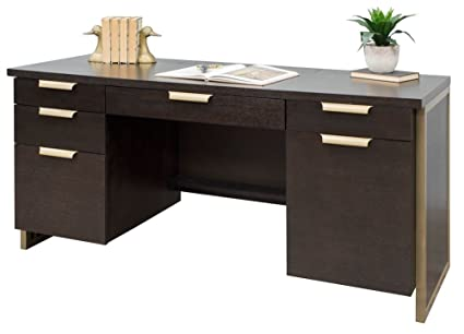 Credenza Dark : Solid wood dark cherry credenza with drawers madison liquidators