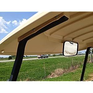 Golf Cart Rear View Mirror for Ez Go, Club Car, Yamaha