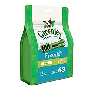 Greenies Freshmint Dental Treat for Teenie Dog (2-7kgs), 340g, 43 treats, Puppy/Adult, Small Click on image for further info.