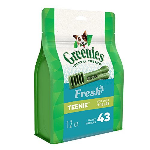 (Greenies Teenie Dental Dog Treats, Fresh Flavor, 12 Oz. Pack (43 Treats), Makes A Great Holiday Dog Stocking)