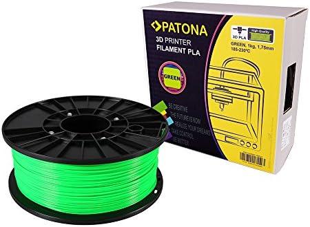 Patona 3d printer filamento PLA verde (Bobina/1 kg/1,75 mm ...