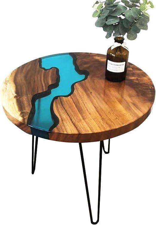 Liuxiuer Table Basse Nordique En Bois Massif Resine Creative