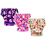 Baby Reusable Swim Diaper, 3pcs Adjustable Washable Absorbent Swimsuit for Swimming Lesson Baby Shower Gifts