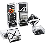 ROMIX Fidget Puzzle Boxes Mini Brain Teaser 10PCS Puzzle Cube for Kids Adults, Game Challenge for Teenagers, C Toy Gift Idea Safe for Children