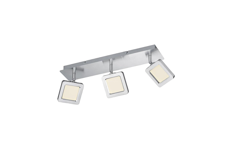 Trio Leuchten LED Deckenleuchte, Metall, Integriert, 4.3 W, Nickel Matt, 16.5 x 46 x 8 cm