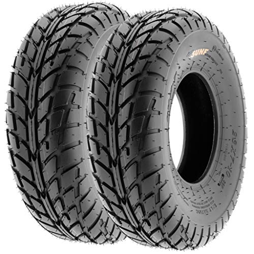 Pair of 2 SunF A021 TT Sport ATV UTV Dirt & Flat Track Tires 22x7-10, 6 PR, Tubeless