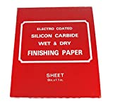 Car Builder Supply 780-784 - Silicon Carbide Wet Dry 9 x 11 Sheets, Select 800 to 2000 Grit, 100 Sheet Sleeve, For Automotive Wood and other Sanding Projects (1000A Grit)