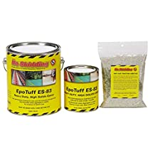 ES-83 High Solids Two Part Epoxy Coating, 1 gallon Kit with Grit, Matte White