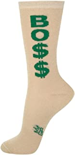product image for Boss Dollar Signs Green Gold One Size Adult Crew Socks
