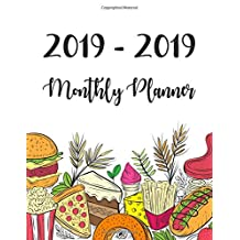 2019-2020 Monthly Planner: Two Year - Monthly Calendar Planner | 24 Months Jan 2019 to Dec 2020 For Academic Agenda Schedule Organizer Logbook and Journal Notebook Planners | Food Meal Planner Cover