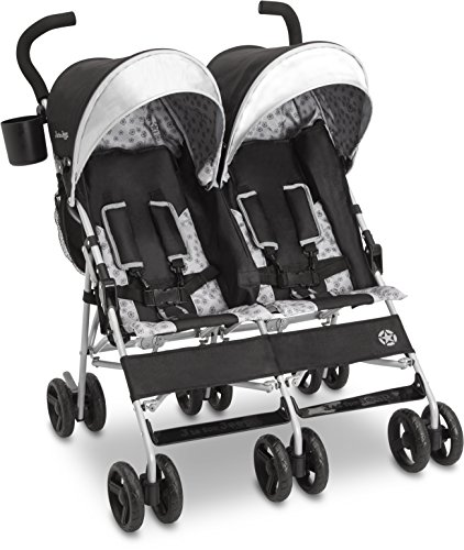 J is for Jeep Brand Scout Double Stroller - Charcoal Galaxy