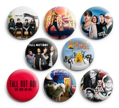 Fall Out Boy Pinback Buttons 8Pcs 1.25 inch