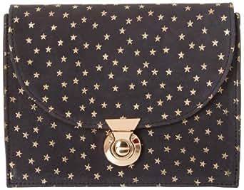Lauren Merkin Piper Clutch,Black/Gold,One Size
