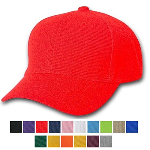 AStorePlus Hot Sale Soild Color Plain Baseball Cap Adjustable Closure Blank Cotton Hat, - Face Male For Hats Round
