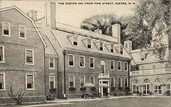 Exeter inn from pine street exeter new hampshire original vintage postcard for Pine garden exeter nh