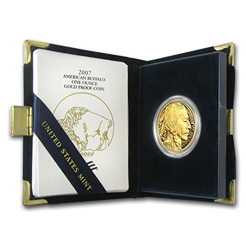 2007 W 1 oz Proof Gold Buffalo (w/Box & COA) 1 OZ Brilliant Uncirculated ()