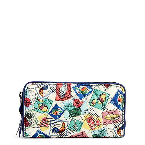 - Vera Bradley Women's RFID Georgia Wallet, Cuban Stamps, One Size