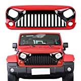Grill Grid Grille,Angry Gladiator Vader Front Grille Accessories for Jeep Wrangler 2007-2017 Rubicon Sahara Sport JK JKU 2/4Door