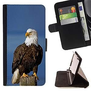 - Queen Pattern FOR Samsung Galaxy S4 Mini i9190 /La identificaci????n del cr????dito ranuras para tarjetas tir????n de la caja Cartera de cuero cubie - eagle American symbol nati
