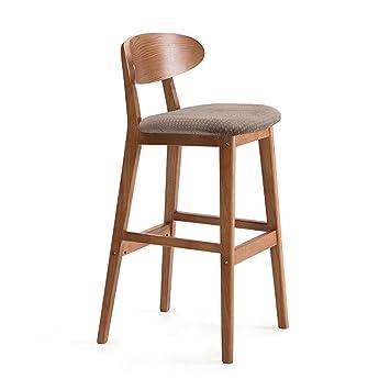 ERRU- Tabouret de bar en bois solide bar chaise dossier Continental on