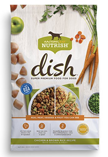 Rachael Ray Nutrish Dish Chicken & Brown Rice Recipe with Veggies & Fruit Dry Dog Food, 23 Pounds