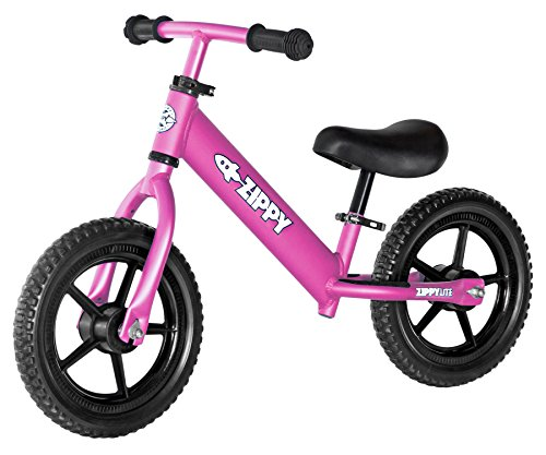 """ZIPPY LITE Training Beginners Running Balance Bike - Lightweight, 12"""" wheels, No Pedals - Aluminum Bicycle For Toddlers & Kids Ages 1.5 to 5 Years - (All Terrain Aluminum Bicycle)"""