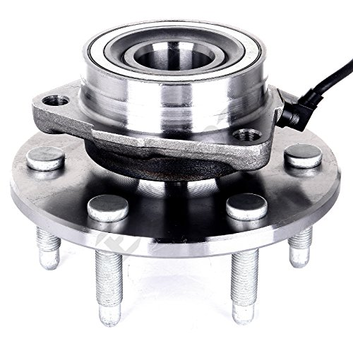 1 Bearing Assembly (ECCPP 515036 Wheel Bearing and Hub Assembly - Professional Grade Wheel Hub and Bearing Assembly 6 Lug W/ ABS 4WD (515036)