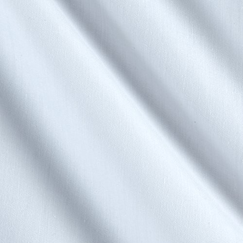 Ben Textiles 60in Poly Cotton Broadcloth White Fabric by The Yard, White -