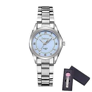 WZFCSAEAE Relojes Mujer de Lujo Marca de Moda de Cuarzo Señoras Rhinestone Reloj Vestido Impermeable Reloj
