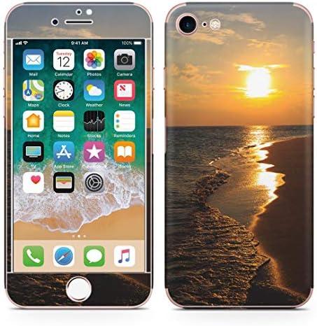 igsticker iPhone SE 2020 iPhone8 iPhone7 専用 スキンシール 全面スキンシール フル 背面 側面 正面 液晶 ステッカー 保護シール 014467 海 夕日 写真