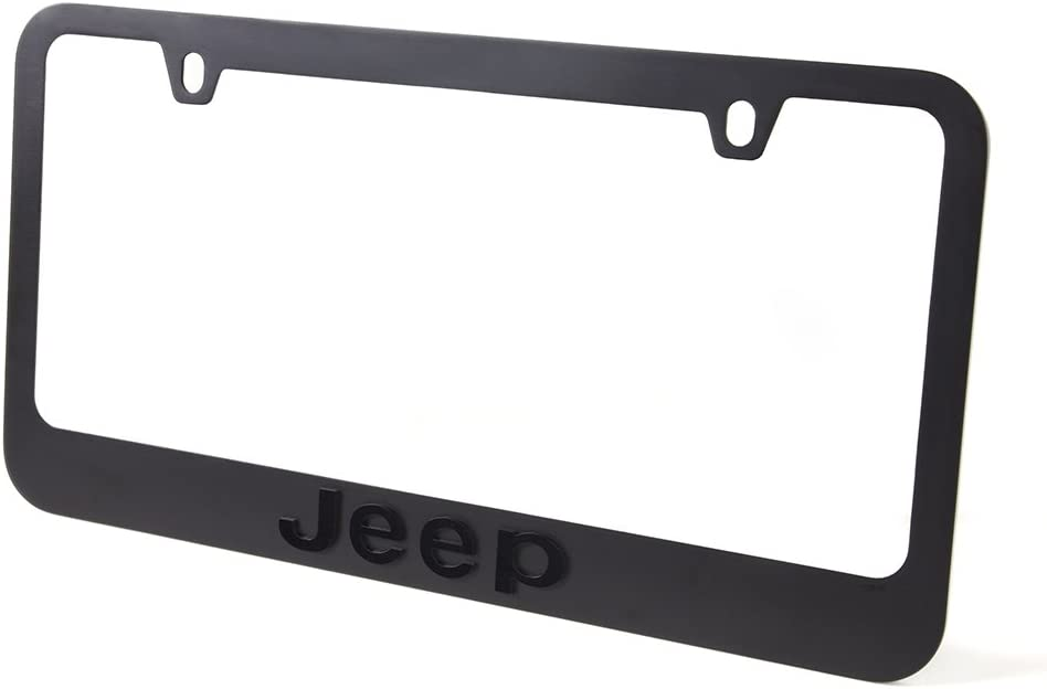 Jeep Stealth Blackout License Plate Frame