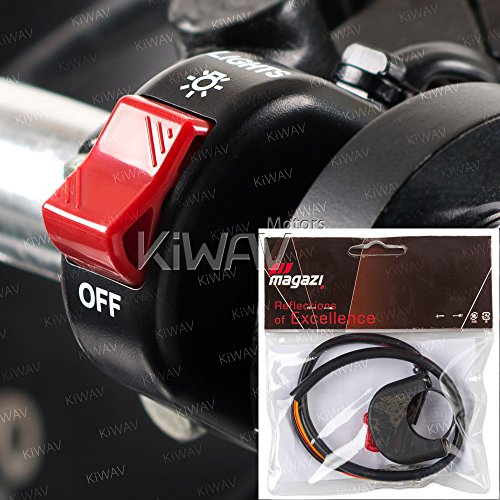 KiWAV fog light switch On/Off black 12v DC electrical system 7/8