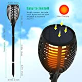 Aityvert Solar Torch Lights, Waterproof Flickering Flame Solar Torches Dancing Flames Landscape Decoration Lighting Dusk to Dawn Outdoor Security Path Light for Garden Patio Deck Y
