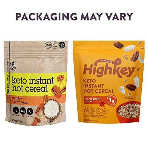 HighKey Snacks Keto Breakfast Cereal - Low Carb Food - Oatmeal & Grits Substitute - High Protein Gluten & Grain Free Snack - Ketogenic Friendly Foods & Products - Diabetic Diet - Maple & Brown Sugar 7