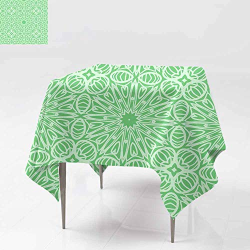 Fbdace Fashions Table Cloth,Seamless lace Floral Background Texture for Wallpaper Invitation Vector Illustration Dinner Picnic Table Cloth Home Decoration 36x36 Inch]()