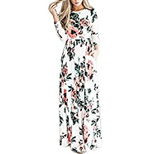 Greenis Summer Women Dress Maxi Floral Printed Polyester