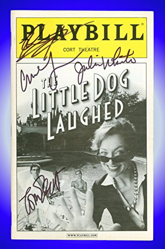 The Little Dog Laughed, Autographed Broadway Playbill + Julie White, Johnny Galecki, Tom Everett Scott, Ari Graynor