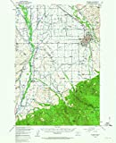 YellowMaps Bozeman MT topo map, 1:62500 Scale, 15 X 15 Minute, Historical, 1953, Updated 1963, 20.8 x 17 in - Paper