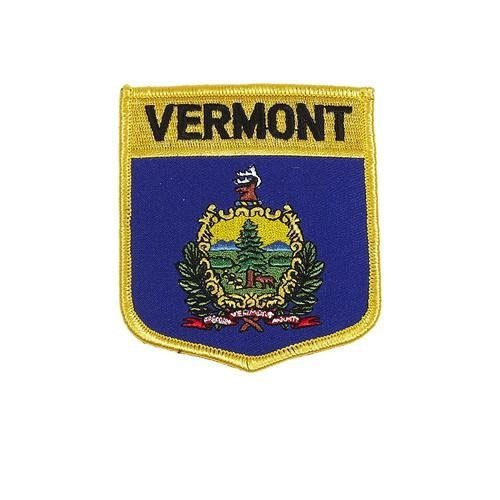 Vermont USA State Shield Flag Embroidered Iron-ON Patch Crest Badge. New