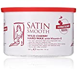Satin Smooth Wild Cherry Hard Wax with Vitamin E, 14 Ounce