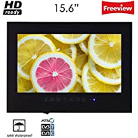 Soulaca 15.6 Bathroom Waterproof LED TV in Black Color T156FN-B