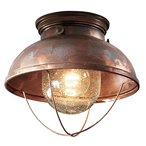 Very Attractive Design Copper Light Fixtures. Ceiling Lodge Rustic Country Western  Weathered Copper Light Fixture Amazon com