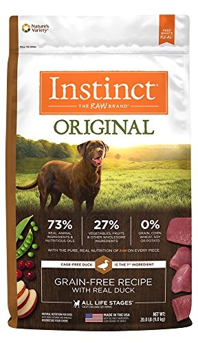 Natures Variety Instinct Duck (Instinct Original Grain Free Recipe with Real Duck Natural Dry Dog Food by Nature's Variety, 20 lb. Bag)