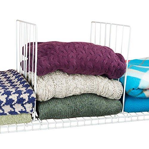 Evelots Set Of 4 Closet Shelf Dividers For Wire Shelving, Wire Design, White (Ideas Design Closet Wire)