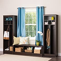 Prepac 3-piece Entryway / Mudroom Storage Combination - Espresso