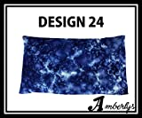 Designer Eye Pillow with Removable Cover and Refillable Inner Pouch ( Migraine, Anxiety & Stress Relief) Excellent for individuals with Insomia. Yoga Eye Pillow (Design 24 Cotton Eye Pillow Scented)