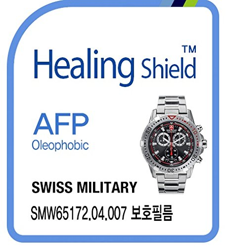 (Healingshield Screen Protector Oleophobic AFP Clear Film for Swiss Military Watch SMW 65172.04.007 [Front 2pcs] )