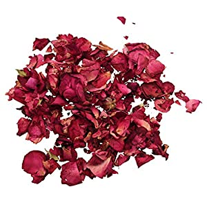 SODIAL(R) 1 Bag of Dried Rose Petals Flowers Natural Wedding Table Confetti Pot 21